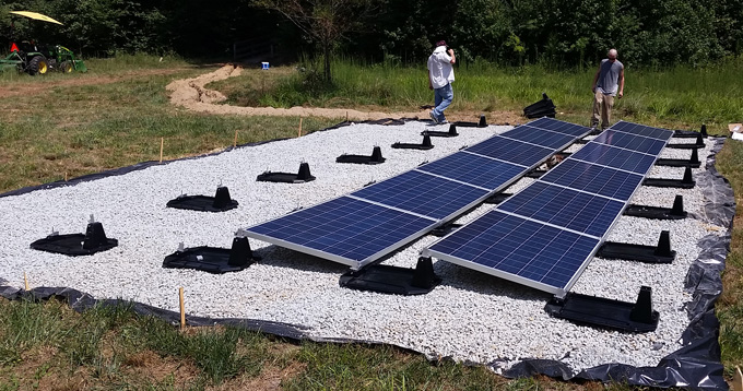 PV Solar Panel Ballasted Flat Roof & Ground Mount Hardware