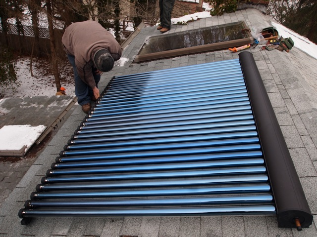 Solar Water Heating - Evacuated Tubes